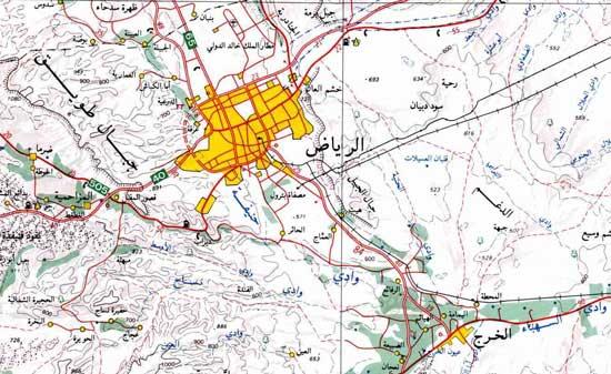 وادي حنيفة وروافده صور وتقرير