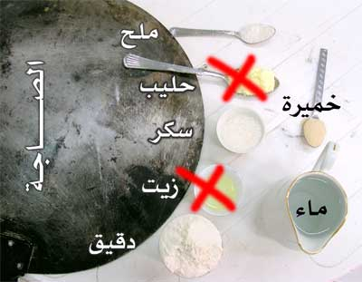 طريقه عمل الخبز المنفوخ على الصاجه وبالصور