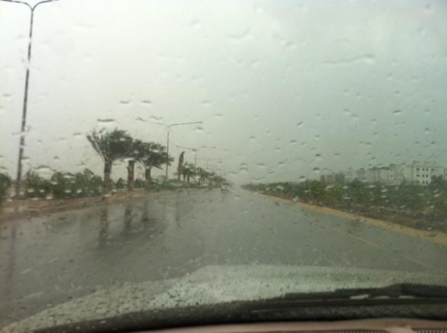 الشرقيه تتزين بالمطر الاضحى المبارك